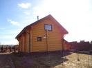Дом-баня из профилированного бревна диаметром 240 мм.