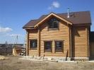 Дом из оцилиндрованного бревна диаметром 220 мм