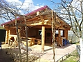 Беседка из оцилиндрованного бревна в Тверской обл. :: Беседка из оцилиндрованного бревна диаметром 240 мм.