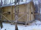 Баня из оцилиндрованного бревна в Московской обл.