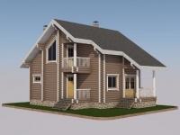 Проект дома из оцилиндрованного бревна Д-103