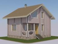 Проект дома из оцилиндрованного бревна Д-113