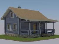 Проект дома из оцилиндрованного бревна Д-116