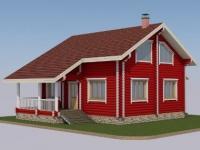 Проект дома из оцилиндрованного бревна Д-141