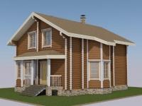 Проект дома из оцилиндрованного бревна Д-144