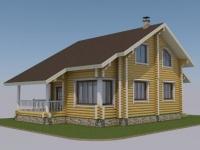 Проект дома из оцилиндрованного бревна Д-147