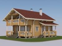 Проект дома из оцилиндрованного бревна Д-150