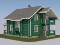 Проект дома из оцилиндрованного бревна Д-155