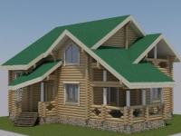 Проект дома из оцилиндрованного бревна Д-159