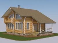 Проект дома из оцилиндрованного бревна Д-161