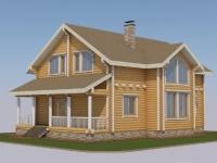 Проект дома из профилированного бревна Д-187