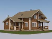 Проект дома из профилированного бревна Д-189