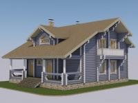 Проект дома из оцилиндрованного бревна Д-253