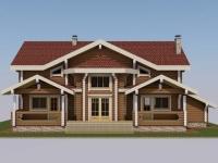 Проект дома из профилированного бревна Д-393