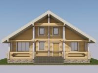Проект дома из оцилиндрованного бревна Д-95