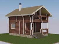 Проект дома из оцилиндрованного бревна Д-99