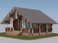 Проект дома для гостей из профилированного бревна ГД-54
