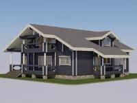 Проект дома из профилированного бревна Д-250