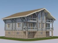Проект дома из профилированного бревна Д-546
