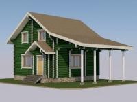 Проект дома из оцилиндрованного бревна Д-115