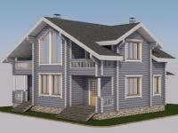 Проект дома из оцилиндрованного бревна Д-169