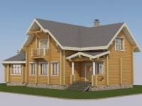 Проект дома из профилированного бревна Д-173
