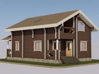 Проект дома из оцилиндрованного бревна Д-127