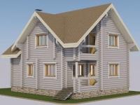 Проект дома из оцилиндрованного бревна Д-149
