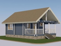 Проект дома из оцилиндрованного бревна Д-35