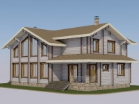 Проект дома из профилированного бревна Д-238