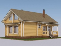 Проект дома из профилированного бревна Д-163
