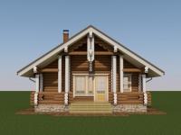 Проект дома для гостей из оцилиндрованного бревна ГД-55