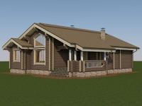 Проект дома из оцилиндрованного бревна Д-124