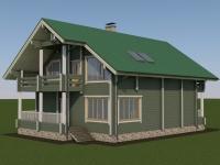 Проект дома из профилированного бруса Д-228