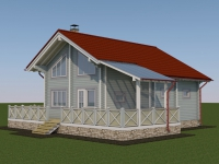 Проект дома из профилированного бруса Д-101