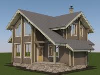 Проект дома из профилированного бруса Д-132