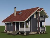 Проект дома из профилированного бруса Д-108