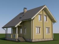 Проект дома из профилированного бруса Д-116