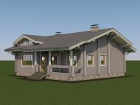 Проект дома из профилированного бруса Д-140