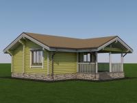 Проект садового дома из оцилиндрованного бревна СД-45