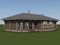 Проект дома из оцилиндрованного бревна Д-194