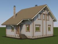 Проект дома из профилированного бруса Д-165