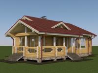 Проект дома из профилированного бревна Д-151