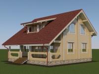 Проект дома из профилированного бруса Д-162