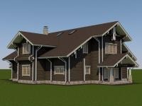 Проект дома из оцилиндрованного бревна Д-487