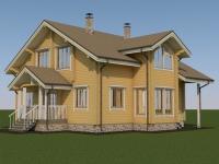 Проект дома из профилированного бруса Д-203