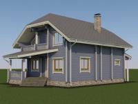 Проект дома из профилированного бруса Д-164