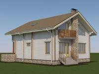 Проект дома из профилированного бруса Д-150
