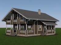 Проект дома из профилированного бруса Д-298