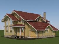 Проект дома из профилированного бруса Д-229